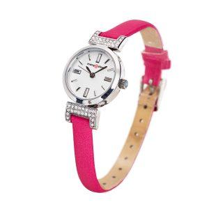 Đồng hồ nữ MS514A MANGOSTEEN SEOUL Hàn Quốc dây da (Đỏ hồng)