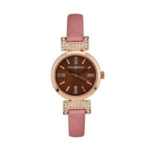 Đồng hồ nữ MS514C MANGOSTEEN SEOUL Hàn Quốc dây da (Hồng nâu)